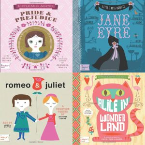 Little Miss Austen Board Books, Book Covers