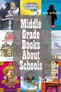Middle Grade Books About Schools Collage